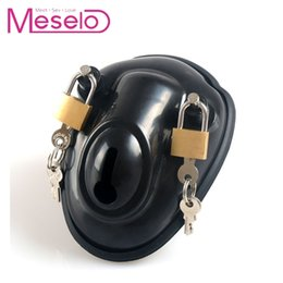 bdsm penis sex game Australia - Male Cock Cages Adult Game 2 Locks Chastity Device Penis Cages Bdsm Toys Men Cock Lock Chastity Belt Sex Toy Y190716
