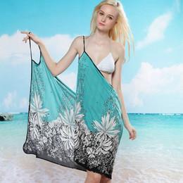 $enCountryForm.capitalKeyWord UK - Beach Bikini Cover Up Holiday Beachwear Women Beach Dress Sexy Summer Green Chiffon Vestido 2019 New Sarong Wrap Pareo Swimwear