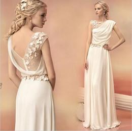 $enCountryForm.capitalKeyWord Australia - Long Evening Dresses 2019 Bride Princess Banquet Lace Chiffon Prom Dress Greek Goddess Elegant Backless Plus Size Formal Dress