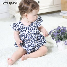 onesie rompers Australia - Summer Baby Clothes Girl Romper Newborn 0-3Y Baby Onesie Floral Infant Outfit Jumpsuits One Piece Outfit Clothing Rompers