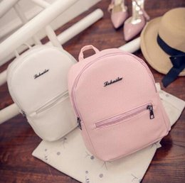 Character Backpacks Australia - Free shipping Sweet College Wind Mini Shoulder Bag High quality PU leather Fashion girl candy color small backpack female bag