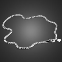 High Quality Silver Chains Australia - Fashion Sterling Silver Male Jewelry Solid 925 Silver 3mm 51cm-76cm Necklace High Quality Sterling Silver Chain For Men   Boys J190530