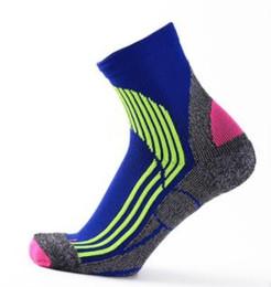 Discount purple elite basketball socks - 2019 USA new high elastic crew socks elite basketball football soccer sport mid-calf length crew sock terry towel kd soc