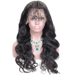 indian hairstyles for women wigs Australia - 150% Density Silk Top Body Wave Indian Virgin Human Wig Glueless Full Lace Wig For Black Woman