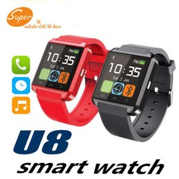 smartwatch u8 smart watch NZ - Bluetooth Smartwatch U8 U Watch Smart Watch Wrist Watches for iPhone Samsung HTC Android Phone Smartphones for gift with DHL
