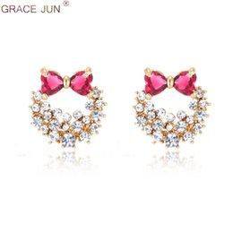 In Design; Grace Jun 4 Colors Choose Big Round Aaa Cz Rhinestone Clip On Earring No Pierced Party Wedding Charm Neednt Ear Hole Earrings Novel