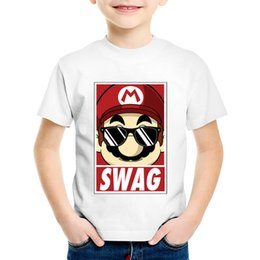 $enCountryForm.capitalKeyWord NZ - Children Fashion Print Mario Swag T-shirts Kids Funny Summer Short Sleeve Clothes Casual Tops Baby Tees For Boys Girls,HKP2111