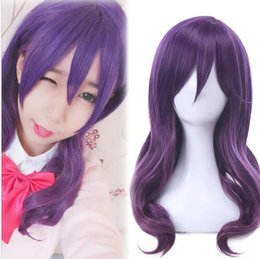 kiss hair color NZ - Details about Kiss Him Not Me Serinuma Kae Cosplay Wig Fashion Purple Long Curly Wavy Hair