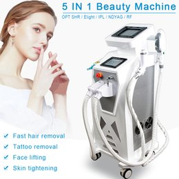 Hair removal instrument online shopping - CE approved The most effective hot sale multifunctional beauty instrument Ipl shr hair removal ipl elight rf nd yag laser in