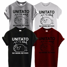 8812c11d Unicorn T Shirt Funny Australia - UNITATO t shirt UNISEX cute half unicorn  half potato funny