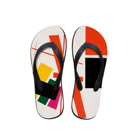 $enCountryForm.capitalKeyWord Australia - 2019 New Summer Men Flip Flops Beach Anti-slip Sandals Casual Anti-Slip Shoes Painting Print For Kazimir Malevich Master Pieces
