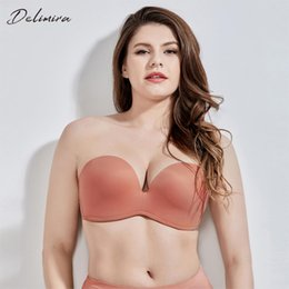 2b3ba127da8 F Cup Push Up Bra Australia - Delimira Women s Slightly Lined Lift Support  Invisible Seamless Plunge