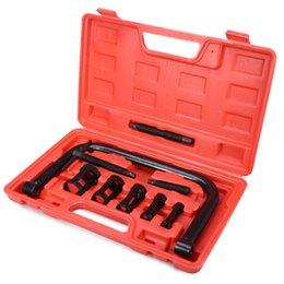 10pcs abrazaderas de válvula compresor de resorte conjunto de herramientas automotrices reparación para motocicleta de automóvil en venta