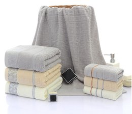 Wholesale Striped Towels Set Soft Cotton Bath Thick Cotton Shower Bathroom Home Spa Towel Towels for Adults Handtuch cm toallas