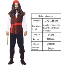 Wholesale pirate costumes women online – ideas handsome beautiful Cosplay Pirates theme Costume Men and women Halloween costume Stage performance costumes and props
