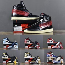 Top besT baskeTball shoes online shopping - Best Quality AJ1 Air Retro High OG Union NRG Origin Story Top ComplexCon Neutral Grey Mens Sports Basketball Shoes Sneakers