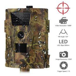 Großhandel HD-Kamera HT-001B-Hinterkamera 12MP 1080P 30pcs Infrarot-LEDs 850nm Jagd IP54 Wasserdicht 120 Grad-Winkel Wild