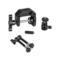 "mini cameras for sports Canada - CAMVATE Super C Clamp + 9.8"" Magic Articulated Arm With 1 4"" Thread Screw + Mini Ball Head + For DSLR Camera Cage DIY Configuration C2477"