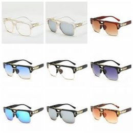 7f3d41a431b6 Clear Lens Square Retro Sunglasses Clear Frame Sun Glasses Gold Metal  Accents Mens Womens Fashion Glasses Hip Hop LJJW169