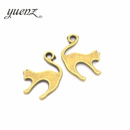 Fit Coin Pendant Australia - ashion Jewelry Charms YuenZ 20pcs Antique Silver Bronze Plated Cat Charm Pendant fit Making Bracelets Jewelry Findings Accessories DIY 19...