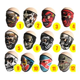 Wholesale Cycling Masks Outdoor Sports Products Windproof Dustproof Ultraviolet Sports Bicycle Mask Motorcycle Anime pattern Riding Mask ZZA636