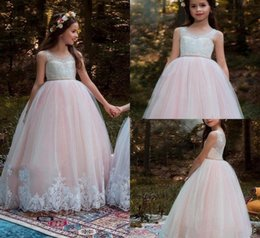 Formal Wedding Gowns Australia - New Arrival Flower Girl Dress First Communion Party Princess Gown Pageant Bridesmaid Wedding Girls Kids Clothing Formal Occasion 200