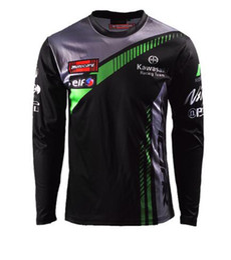 Kawasaki Ninja Green Pink UK - 2019 MOTO GP Team Long Sleeve Kawasaki Racing Motorcycle Mococross MX Ninja T-shirts Jersey