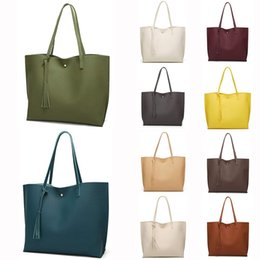 $enCountryForm.capitalKeyWord Australia - Simple Fashion Women Handbags 2018 PU Solid Tassel Pendant Large Capacity Korean Ladies Shopping Travel Hand Bag women bagC525