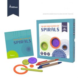 $enCountryForm.capitalKeyWord Australia - Mideer children's creative diy gear painting Million flower ruler toys, multi-functional magic spiral painting set