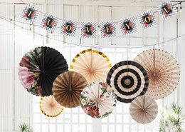 $enCountryForm.capitalKeyWord UK - 3 sets Party Decorations Paper Fans Banner Paper Flowers Birthday Wedding Hanging Outdoor Decoration Baby Shower Decorations