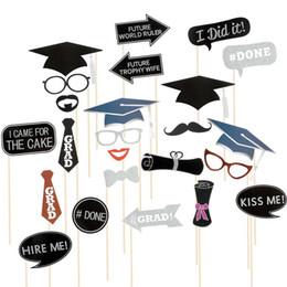 $enCountryForm.capitalKeyWord Australia - 2019 24PCS Graduation Grad Party Masks Photo Booth Props Mustache Decora Styling carnival supplies photo props new 528