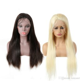wire wigs 2019 - Brazilian High Temperature Wire Straight Full Density Natural Color&Blonde Color Straight Wigs cheap wire wigs