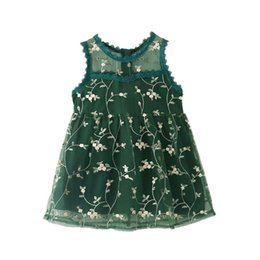 394f048c2e8 Hot Sale 2019 Girls Summer Dress Kids Clothes Girls Party Dress Children  Clothing Embroidery Lace Princess Flower Girl Dresses