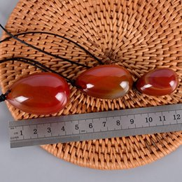 Crafting Gems Australia - NEW Red Massage stone Red agate beautiful Health Shaping Stone natural egg shape craft gem for women