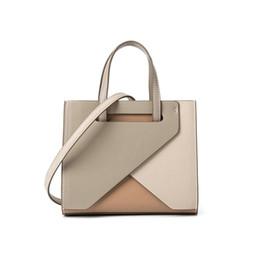 $enCountryForm.capitalKeyWord Australia - Women's Fashion Elegant Patchwork Handbag Unique Color Block Tote Ladies' Luxury Designer Bag Square Shape Messenger Bags