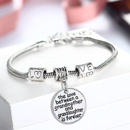 Wholesale Sterling Silver Toggle Bracelets Australia - hot wholesale silver color vintage rhinestone love heart bracelet Sister love forever gift bracelet wholesale women bracelet K3491