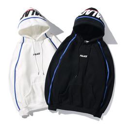 VelVet embroidered coat online shopping - Fashion Mens Women Plus Velvet Cotton Hooded Sweater l Stripe Colorblock Student Coat S LINE HOODIE Embroidered Sweatshirt KQN CH1909