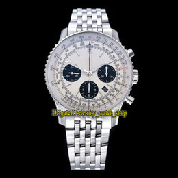 GF Top Edition B01 43MM AB0121211G1A1 ETA A7750 Chronograph Automatic White Dial Mens Watch Two way rotation Bezel Sport Stopwatch Watches
