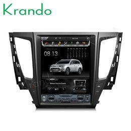 "$enCountryForm.capitalKeyWord Australia - Krando Android 6.0 12.1"" tesla style Vertical screen car dvd radio for Mitsubishi pajero 2017+ gps navigation multimedia player KD-MP172"