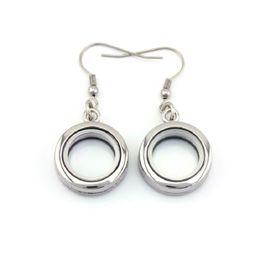 Floated glass online shopping - 20mm Alloy Floating Locket Earrings Plain Glass Living Floating Locket Earrings PAIRS