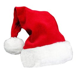 fitted skull caps Australia - 2020 Best Selling Cap Red Santa Claus Hat Gold Santa Hat Christmas Caps Fashionable Christmas Decoration Ornament Colored Santa Hat Supplies