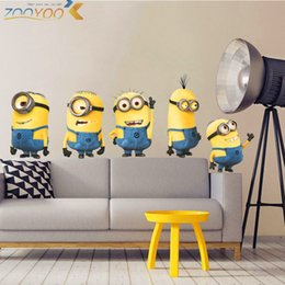 $enCountryForm.capitalKeyWord Australia - Cute Yellow Man Movie Wall Stickers For Kids Rooms Home Decor 3d Cartoon Wall Decals Art Diy Posters Children's Gift Pvc Mural