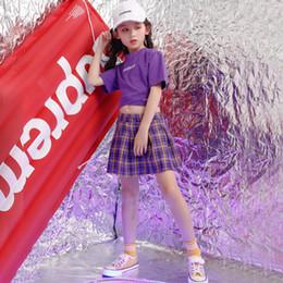 $enCountryForm.capitalKeyWord Australia - Girls Stage Show wear Costumes Kids Ballroom Jazz Dancing Outfits for Girls T Shirt Crop Tops Skirt Hip Hop Dance Clothes Suit