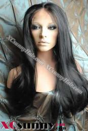 $enCountryForm.capitalKeyWord NZ - 20 Inch Silky Straight #1 Jet Black Glueless Full Lace Wigs 100% Indian Remy Human Hair [GFH028]