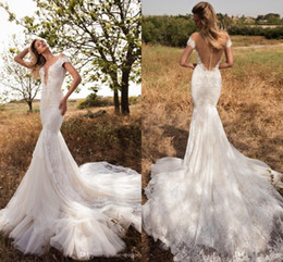 Full Tulle Wedding Dress Australia - 2019 Elegant Full Lace Off Shoulder Mermaid Wedding Dress Sexy Jewel Neck Lace Tulle Appliqued Beach Boho Bridal Gown Vestios De Novia