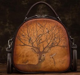 $enCountryForm.capitalKeyWord Australia - 2019 free shipping European and American brand new embossed fashionable hand-carry leather retro hand-carry cross-body bag shopping bag
