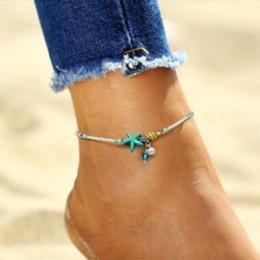 sandals shells 2019 - Shell Anklet pearl Beads Starfish Anklets For Women Fashion Vintage Handmade barefoot Sandal Statement Bracelet Foot Boh