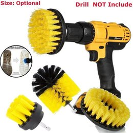 $enCountryForm.capitalKeyWord Australia - 3pcs Nylon Drill Cleaning Brush Attachments Power Scrubber Brush Kit For Car Tile Grout Flooring Brick Ceramic Marble Bathroom