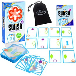 $enCountryForm.capitalKeyWord NZ - Fun Swish Logical Thinking Transparent Card Board Games for Kids Color Shapes Children's Party Toys