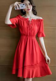 $enCountryForm.capitalKeyWord NZ - 2019 Korean Summer young lady's Red Sexy Strapless One-Piece Dress